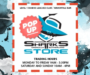 Sharks Pop Up Shop