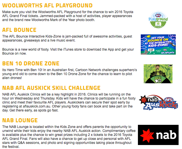 AFL Kids Zone