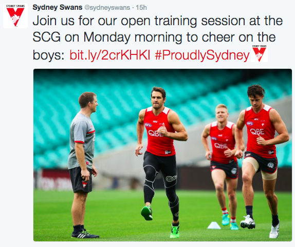 Swans Open Training Session