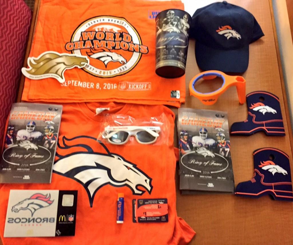 Broncos giveaways