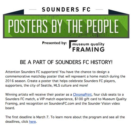 Sounders FC 'Posters By The People'