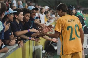 The Matilda's Sam Kerr meeting fans